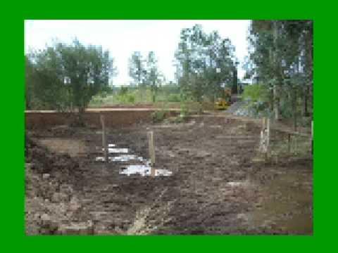 Small dam construction youtube for Small pond dam design