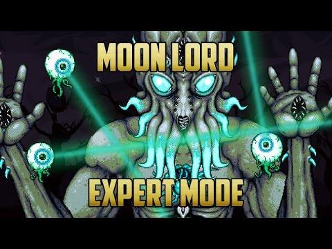 Moon Lord Expert Mode Battle (ranged pre-moonlord gear)