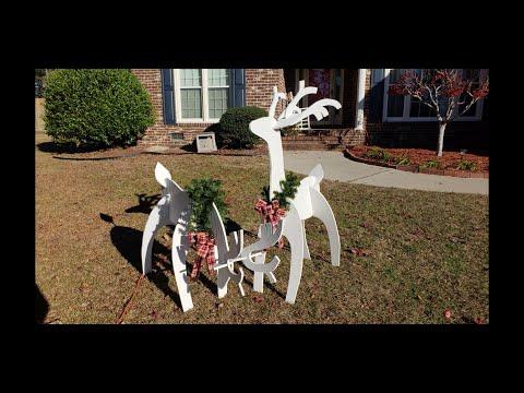 Building Wood Reindeer Yard Ornaments