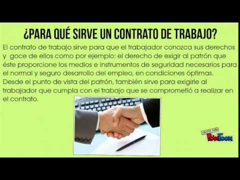 Contrato De Trabajo Y Relaci N Laboral Youtube