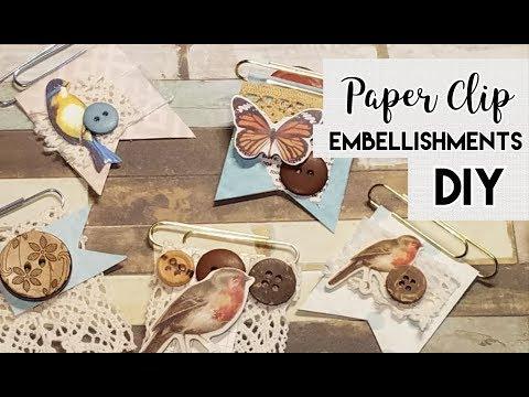 Easy Paper Clip Embellishments