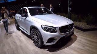 Mercedes benz glc coupe C253 compilation 3: silver blue grey !  walkaround + interior