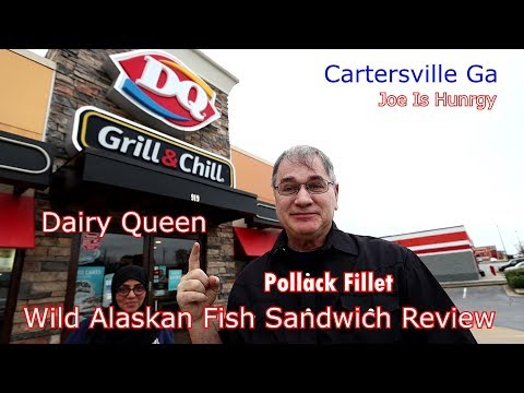 Dairy Queen Wild Alaskan Fish Sandwich Review | Joe Is Hungry | DQ Dairy Queen New Pollack Cod 🍔🌭