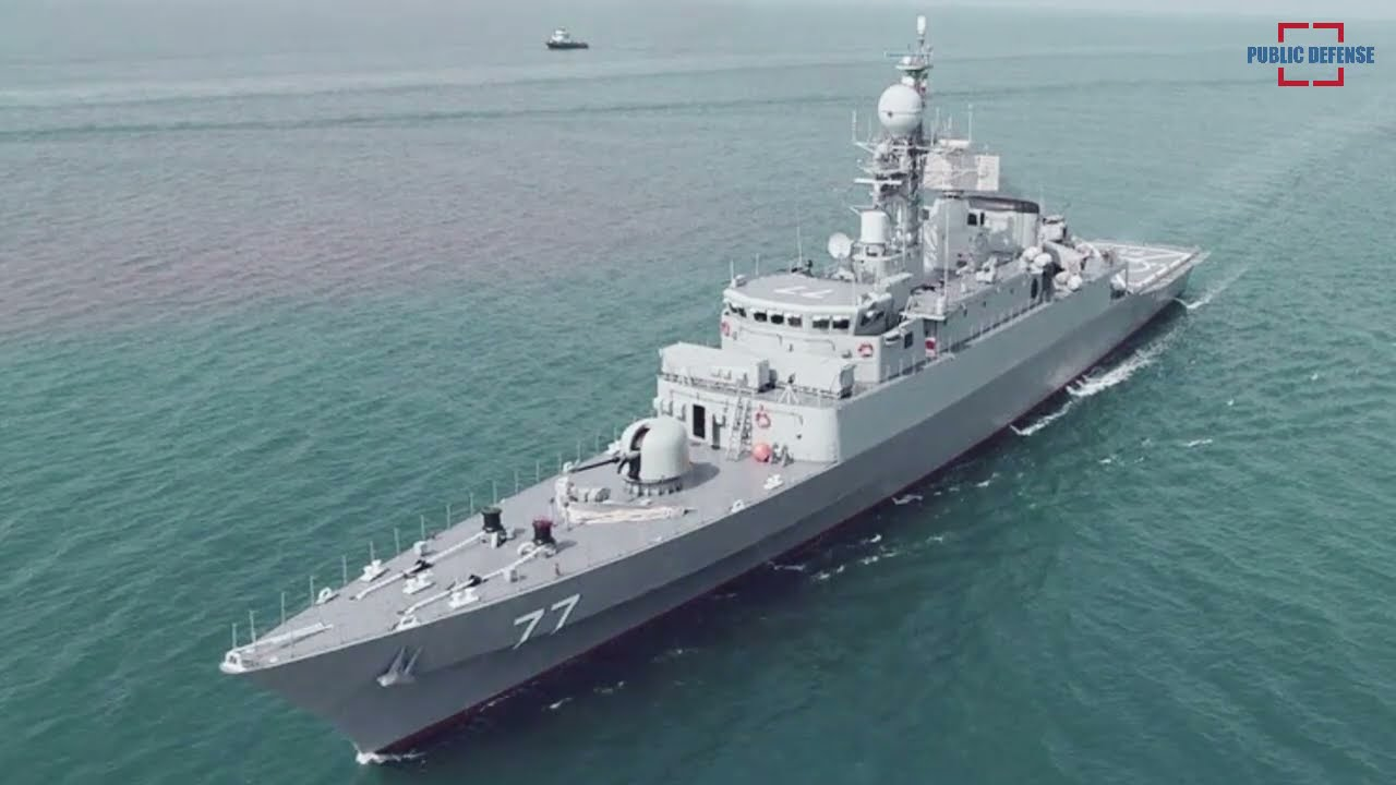 Iranian Navy Gets New Power from the Locally Made Dena Destroyer and Shahin Minesweeper