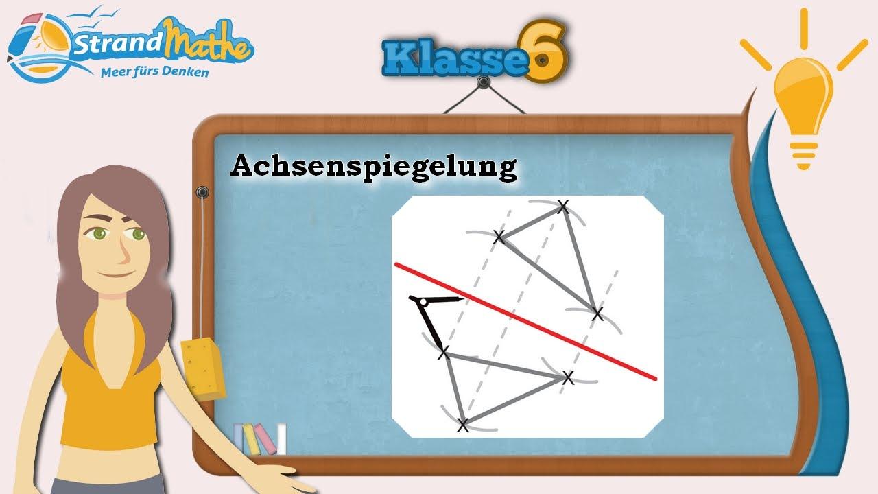 Achsenspiegelung || Klasse 6 ☆ Wissen - YouTube