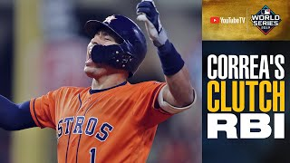 Carlos Correa's CLUTCH RBI single extends Astros' lead in World Series Game 7