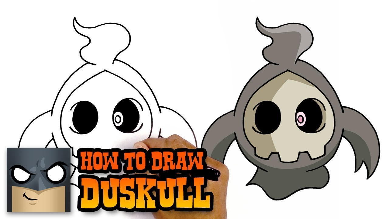 How To Draw Duskull Pokemon Awesome Step By Step Tutorial Youtube