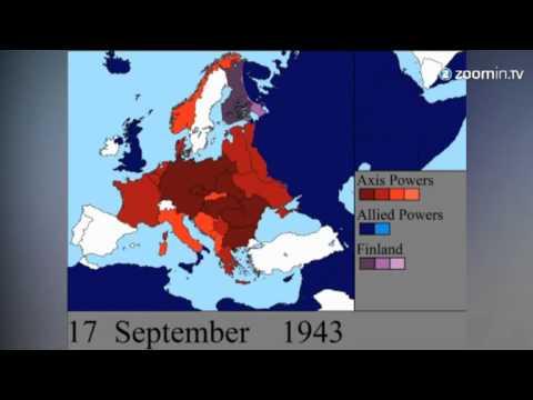2 Weltkrieg Karte.Europas Frontverschiebungen Animation Zeigt Zweiten Weltkrieg Im Zeitraffer