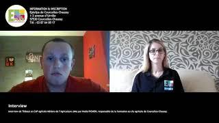 Interview de Thibaut en CAP agricole Métiers de l'Agriculture (MA)
