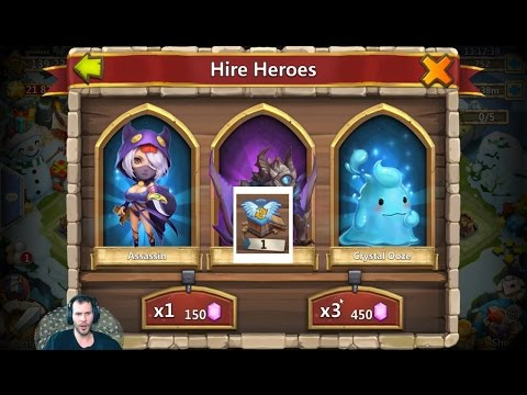 25000 Gems For LIL NICK + Level 5 Talent Chest Android Castle Clash