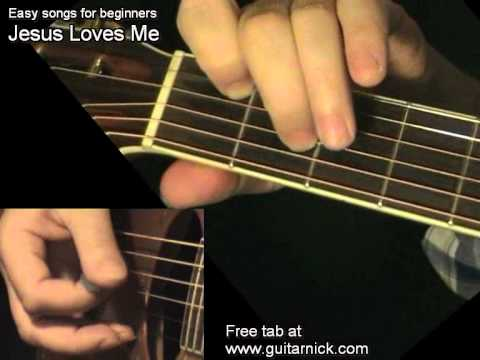 JESUS LOVES ME: Easy Guitar Lesson + TAB by GuitarNick