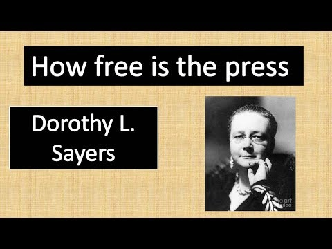 Is press free By Dorothy L. Sayers