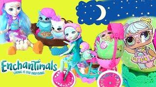 Lol Surprise Dolls Видео для Детей Enchantimals Sleep Over Owls Кукла Сова Рассказывает Сказки