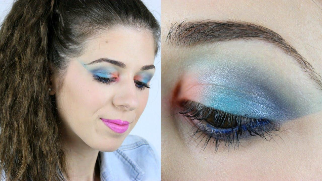 Maquillaje De Los 80 1980s Inspired Makeup Youtube