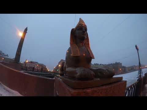 По набережной реки Фонтанки, Египетский мост, город ночью, фото, часть 2