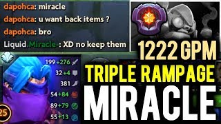 Don't Trashtalk with MIRACLE - 1220GPM Anti-Mage Triple Rampage
