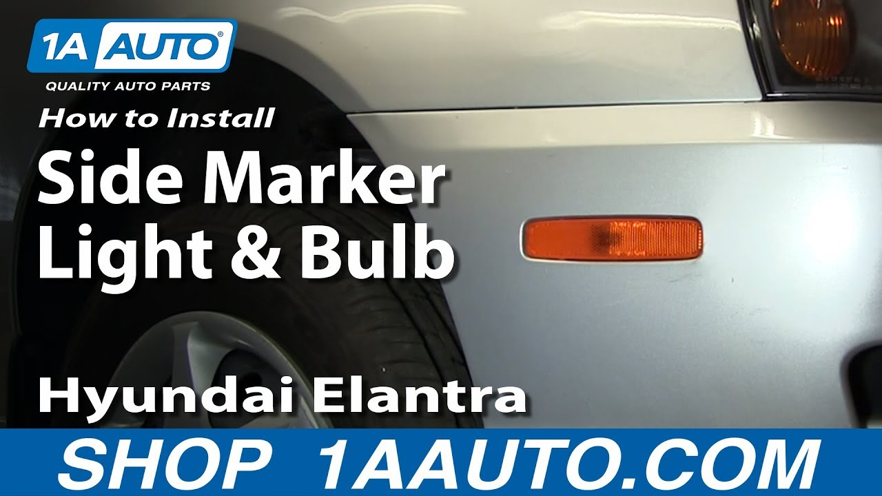 Hyundai Sonata Parts >> How To Install Replace Side Marker Light and Bulb Hyundai Elantra 01-06 1AAuto.com - YouTube