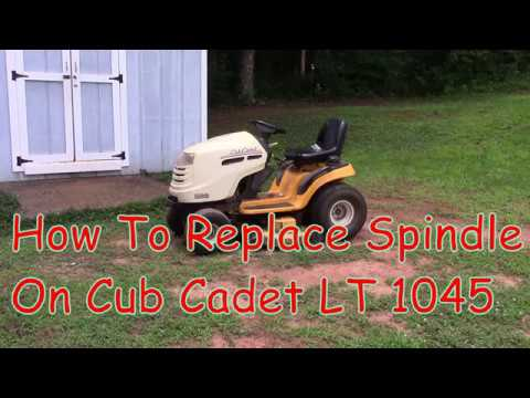 How To Replace Spindle On Cub Cadet LT1045 Complete Directions