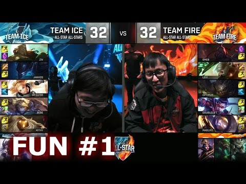 Ice vs Fire fun (troll) Show Match 1 - Madlife Blitzcrank, Smeb Sion| LoL All-Star 2016 Day 4