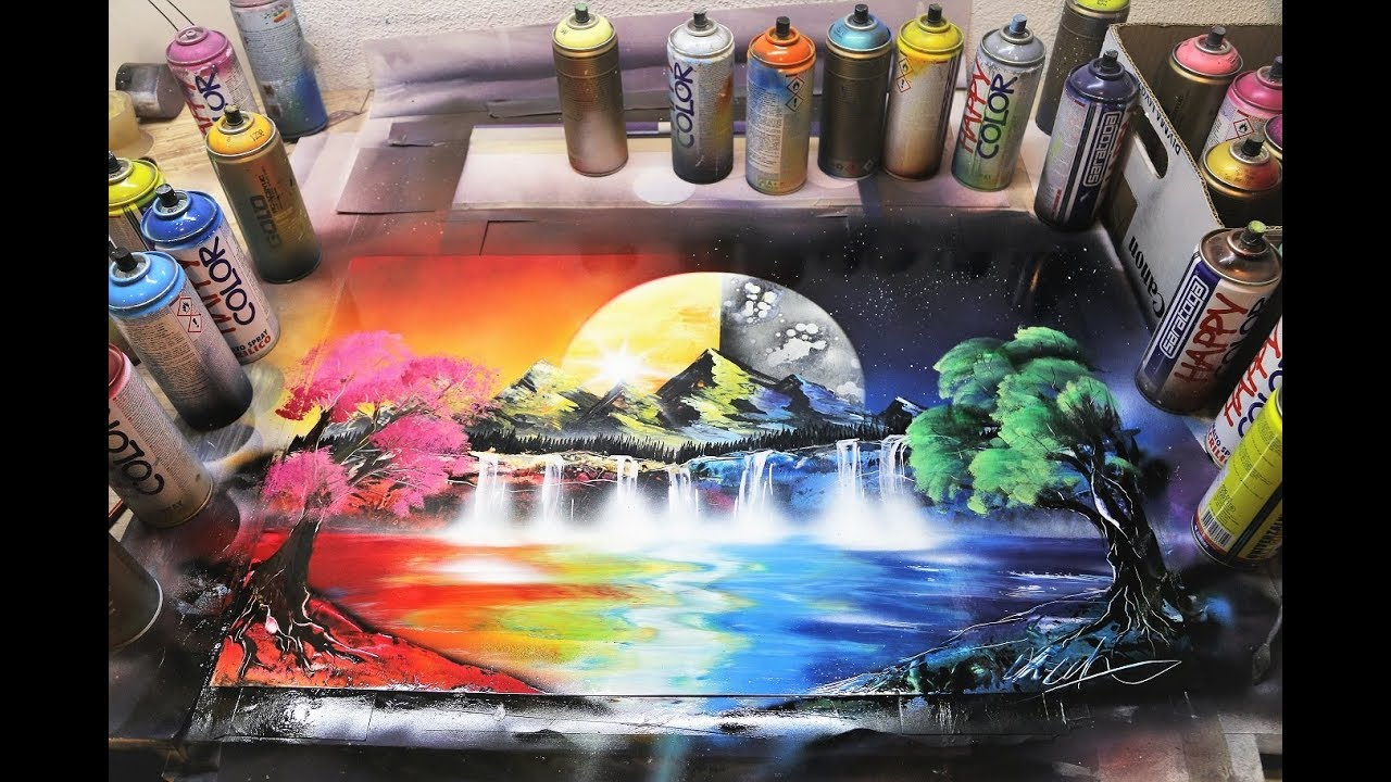 Day and Night - SPRAY PAINT ART by Skech - YouTube