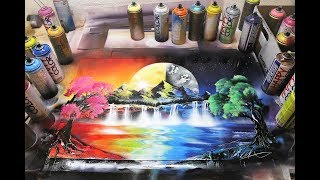 Day and Night - SPRAY PAINT ART by Skech