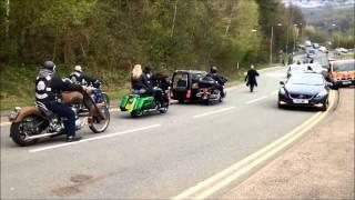 Hundreds of bikers at Pontypool funeral