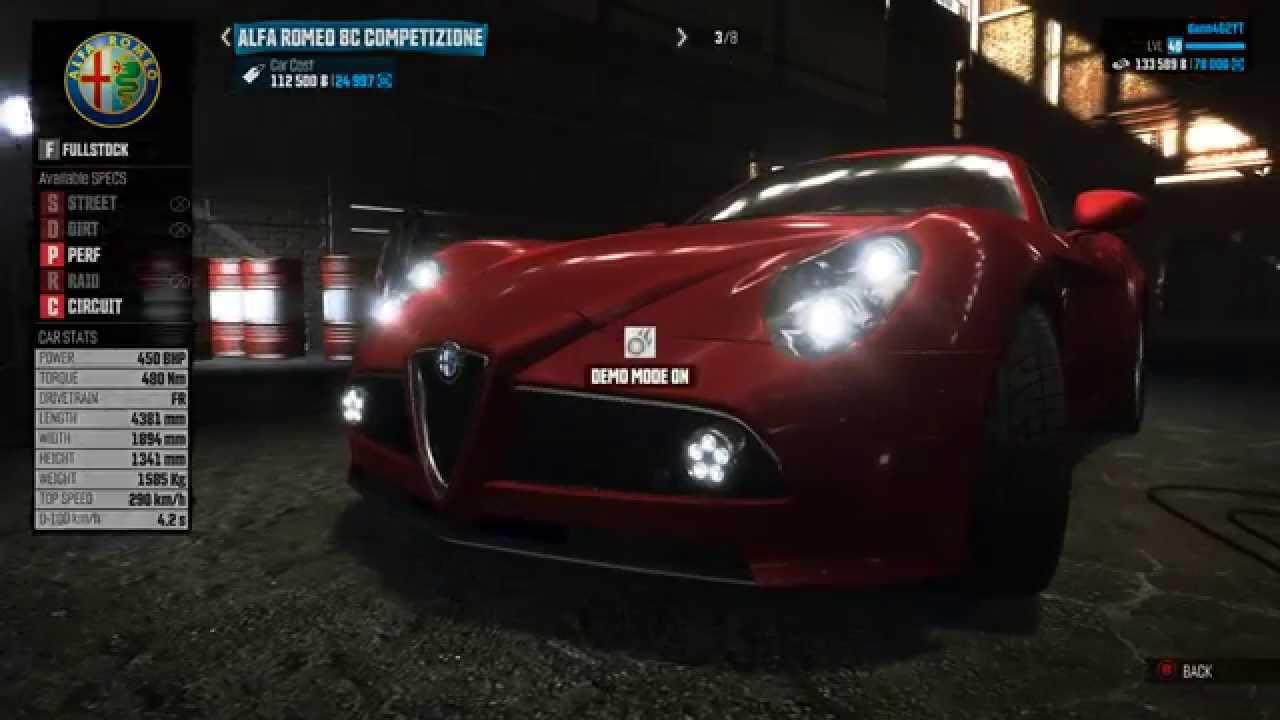 the crew - alfa romeo 8c competizione gameplay hd - youtube