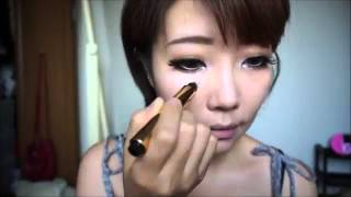 韓国チアガール,レースクイーン'デカ目'メイクKorean Cheerleader,car show model's big eye makeup   YouTube Thumbnail