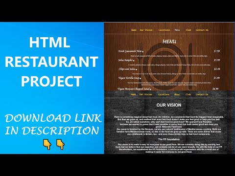 HTML Project On Restaurant