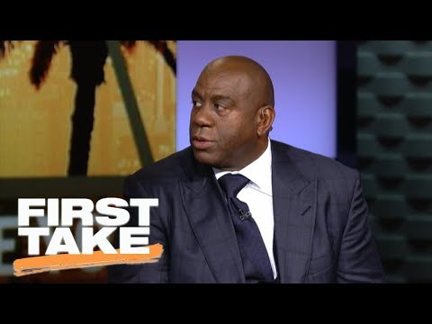 Magic Johnson excited for Lonzo Ball, 2017-18 Los Angeles Lakers | First Take | ESPN