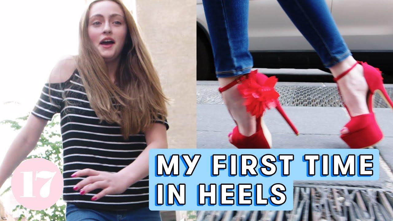teen wearing high heels