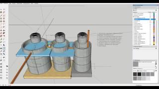 Проект трехкамерного септика из бетонных колец. Обзор промежуточной 3D модели.