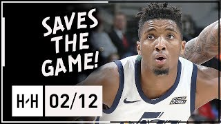 Donovan Mitchell SPECIAL Full Highlights Jazz vs Spurs (2018.02.12) - 25 Points, 7 Reb, CLUTCH!