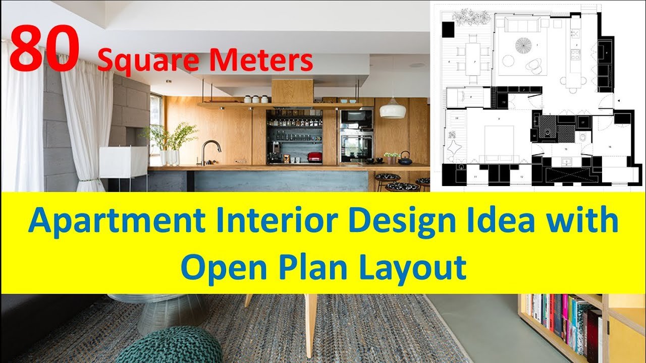80 Square Meters Apartment Interior Design Idea With Open Plan Layout    YouTube