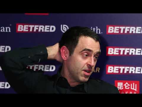 Watch the full Ronnie O'Sullivan press conference Betfred World Snooker Championship 2018