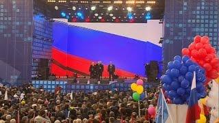 Празднование годовщины возвращения Крыма. Аксёнов и Путин. 110 тыс. человек