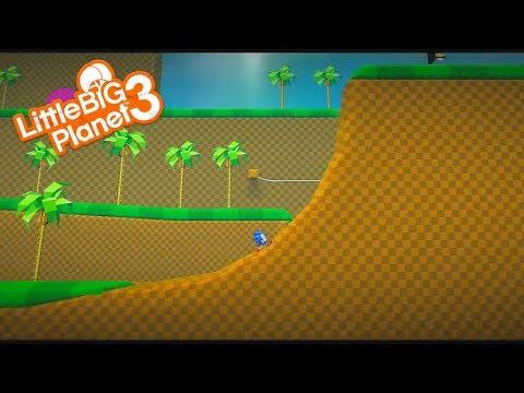 LittleBigPlanet 3 - Sonic Animation - Green Hill HD V3.0