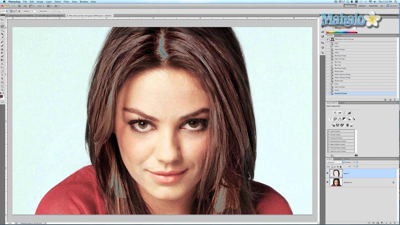 Как добавить в фотошопе волосы