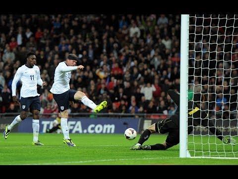 Wayne Rooney goal England vs Montenegro 1-0, World Cup qualifier