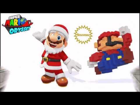 Super Mario Odyssey Tenue Père Noël Mario Pixel