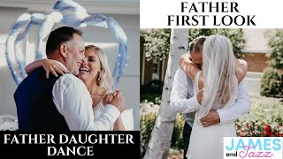 First Look Dad and Daughter || Emotional Father Daughter Dance || Dad Loses It When He Sees Her
