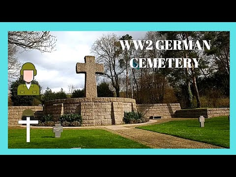The WW2 GERMAN CEMETERY from the 1944 BATTLE of the BULGE  (Ardennes), Luxembourg