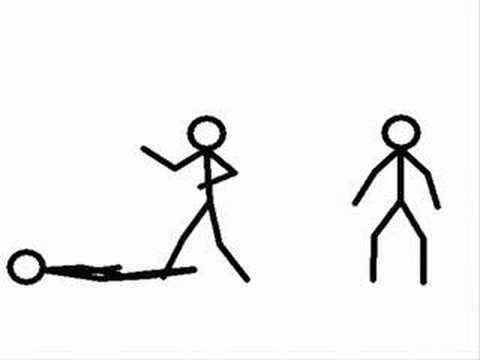 how to draw a stick figure ninja
