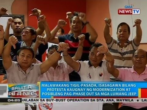 Tigil-pasada, isasagawa bilang protesta kaugnay ng posibleng pag-phase out sa mga lumang jeep