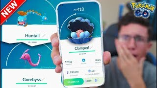 CLAMPERL, HUNTAIL, & GOREBYSS in Pokémon GO! HOW TO GET THEM! (New Event)