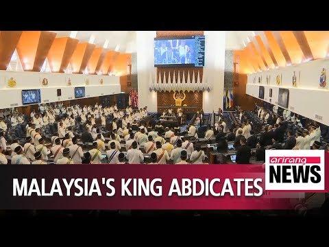Sultan Muhammad V abdicates as Malaysia's king