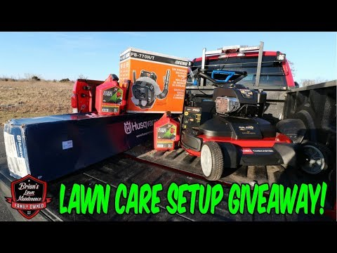 Full Lawn Care Setup Giveaway! Epic 15K Subscriber Video! Big Thank You To All The Fans!