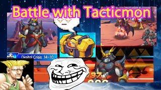 Digital World Digimon Tacticmon Battle try 3 star! + Opening Golden Trashy Box get Holy ??? 😆😫😝