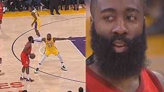 James Harden Shows LeBron James No Fear One-on-One & Uses His Unstoppable Step Back Move!