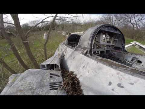 Abandoned F-14's and F-4